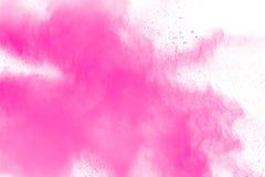 Abstrakt menchii proszka wybuch na białym tle obraz royalty free