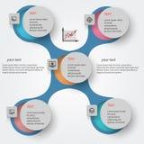 Abstrakt metaball infographics2 Arkivbild