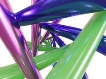 abstrakt metallisk genomskärning för anslutning för rör 3d illustration 3d Royaltyfri Illustrationer