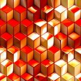 Abstrakt metallisk kubteknologibakgrund Fotografering för Bildbyråer