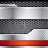Abstrakt metallisk vektorbakgrund med stål stock illustrationer