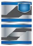 Abstrakt metallisk vektorbroschyr stock illustrationer