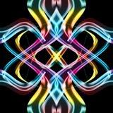abstrakt metalliskt neon Royaltyfri Fotografi