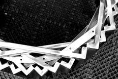 Abstrakt metalu przedmiot z spojrzeniem jak uśmiech twarz Obrazy Royalty Free