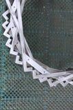 Abstrakt metalu przedmiot z spojrzeniem jak uśmiech twarz Fotografia Stock
