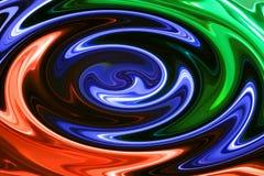 Abstrakt mieszać farby Obraz Royalty Free