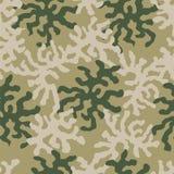 Abstrakt militär- eller jaktkamouflagebakgrund Texturer för soldater, jägare och fiskare Prydnad för tegelplattor och tyger stock illustrationer