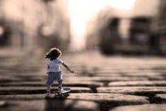 Abstrakt mini- barn Fotografering för Bildbyråer