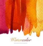 Abstrakt målad bakgrund för vattenfärgflöde ner texturerat Royaltyfria Bilder