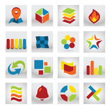 Abstrakt mobil applikationlogo Fotografering för Bildbyråer