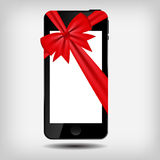 Abstrakt mobil telefonvektorillustration Royaltyfri Fotografi