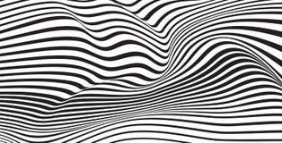 Abstrakt mobious vibrerande optisk bakgrund för vågvektor Arkivfoto