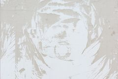 Abstrakt modell av damm, på en blek beige vägg Tom bakgrund, textur Royaltyfri Fotografi