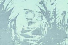 Abstrakt modell av damm, på, en gräns - blå vägg Tom bakgrund, textur Royaltyfria Foton