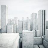 Abstrakt modell av en stad Royaltyfria Bilder