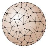 Abstrakt modell av gråa geometriska beståndsdelar som grupperas i en cirkel Royaltyfri Bild