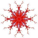 Abstrakt modell av rött och färgstänk av målarfärg Arkivfoto