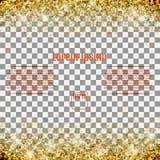 Abstrakt modell av slumpmässiga fallande guld- stjärnor på genomskinlig bac Royaltyfria Bilder