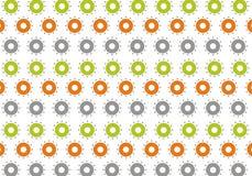 abstrakt modell för cirkelblommaillustration Arkivfoto