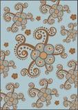 Abstrakt modell för skraj blommor stock illustrationer
