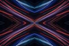 Abstrakt modell f?r neon royaltyfri bild