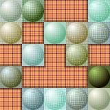 Abstrakt modell från bollar av olika färger Royaltyfria Bilder