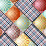 Abstrakt modell från bollar av olika färger Arkivbild