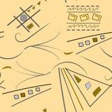 Abstrakt modell från olika diagram Arkivfoton