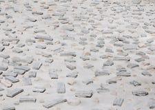 Abstrakt modell från stenar Arkivbild