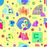 Abstrakt modell i geometrisk stil Modern illustration med geometriska diagram vektor illustrationer