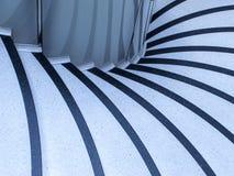 Abstrakt modell i trappa Arkivbilder