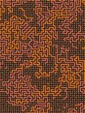 abstrakt modell Labyrintbegrepp Futuristisk sammansättningsbakgrund av kulöra former framförande 3d Royaltyfria Foton
