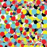 Abstrakt modell med färgrika ljusa prickar Stock Illustrationer