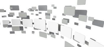 Abstrakt modell på en vit bakgrund stock illustrationer