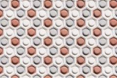 Abstrakt modell på väggen textur för fyrkant för platta för staket för bakgrundscementbetongelement Textur D Royaltyfri Foto