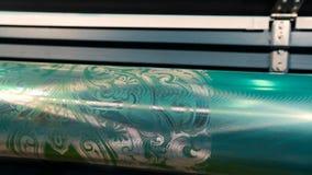 Abstrakt modell p? axeln f?r utskrift av tapeter stock video