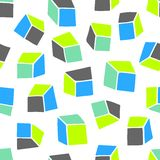 abstrakt modell Sömlös geometrisk tapetbakgrund med fyrkanter Ändlös vit bakgrund Royaltyfri Bild
