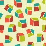 abstrakt modell Sömlös geometrisk tapetbakgrund med fyrkanter Arkivfoton