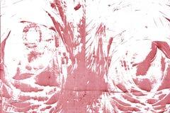 Abstrakt modell som göras av damm, på en röd vägg Tom bakgrund, textur Royaltyfria Foton
