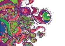 abstrakt moderiktig kantdesign Royaltyfri Bild