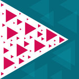 Abstrakt moderiktig mall med olika geometriska former och texturer Royaltyfri Bild