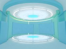 Abstrakt modern arkitekturbakgrund framförande 3d Arkivbilder