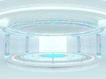 Abstrakt modern arkitekturbakgrund framförande 3d Arkivfoton