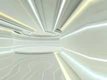 Abstrakt modern arkitekturbakgrund framförande 3d Royaltyfri Bild