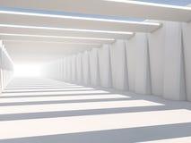 Abstrakt modern arkitekturbakgrund, tomt vitt öppet utrymme Royaltyfria Foton