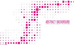 Abstrakt modern bakgrund för mosaikrosa färgfärg Fantastiska geometriska vektorillustrationer med eps10 Arkivbild