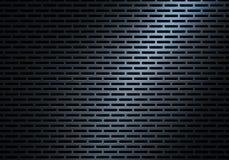 Abstrakt modern blå perforerad textur för metallplatta Royaltyfria Foton