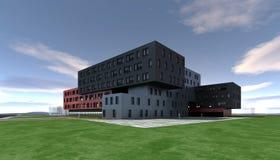 Abstrakt modern byggnad Royaltyfria Bilder