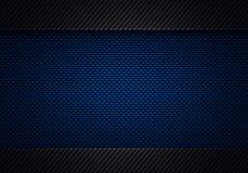 Abstrakt modern design för kol för blå svart texturerad materiell fiber Royaltyfria Bilder