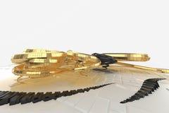 Abstrakt modern framtida arkitektur innehåller konstig-formade byggnader i form av spiral som uppåt riktas facade vektor illustrationer